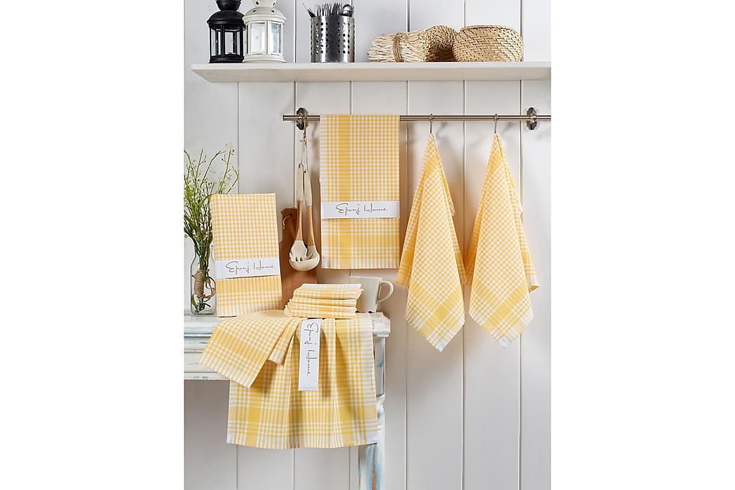 Vaskeklut Hedon 10-pk - Gul/Hvit - Innredning - Tekstiler - Baderomstekstiler