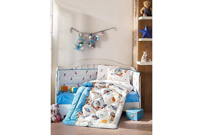 Sovepakke Cotton Box Baby 6 Deler Ranforce - Blå Hvit Multi - Innredning - Tekstiler - Barnetekstiler