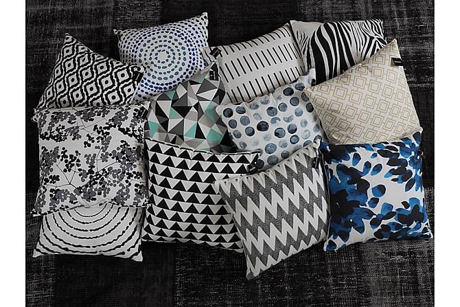 Norville Pute Genevieve 45x45 - Hvit|Svart - Innredning - Tekstiler - Pynteputer