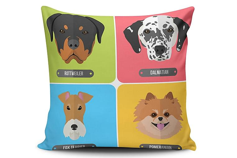 Pute Cushion Love 45x45 cm - Flerfarget - Innredning - Tekstiler - Pynteputer