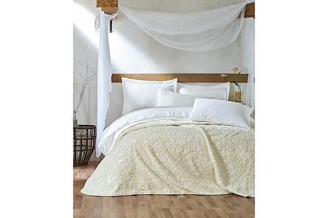 Sengetøy Cotton Box Dobbelt 5-deler Ranforce - Sand Hvit - Innredning - Tekstiler - Sengetøy