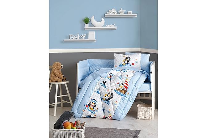 Sovepakke Cotton Box Baby 6 Deler Ranforce - Blå/Hvit/Svart/Rød - Innredning - Tekstiler - Barnetekstiler