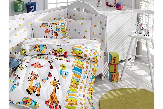 Sovepakke Cotton Box Baby 6 Deler Ranforce - Hvit|Turkis|Grønn|Orange - Innredning - Tekstiler - Barnetekstiler