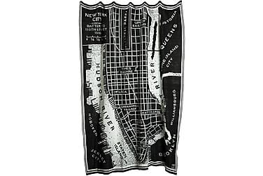 Pledd Manhattan 130x170 cm Svart