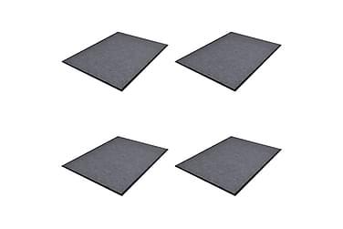 PVC Dørmatter 4 stk grå 90x60 cm