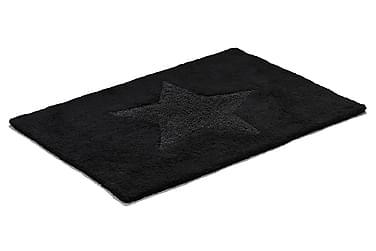 Bomullsmatte Star 50x70 Vendbar Svart