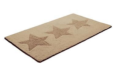 Bomullsmatte Star 70x120 Vendbar Beige