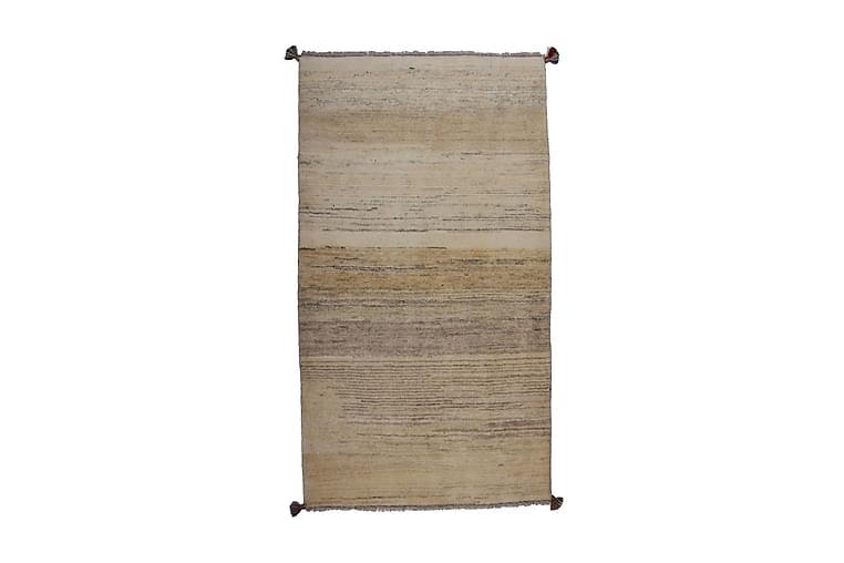 Håndknyttet Gabbeh Shiraz Ull Krem/Grå 88x158cm - Grå Krem - Innredning - Tepper & Matter - Orientalske tepper