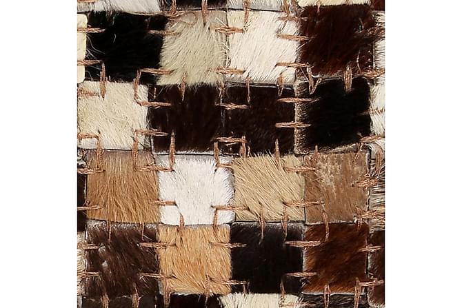 Lumby Lappeteppe 160x230 Firekanter Lær - Flerfarget - Innredning - Tepper & Matter - Skinn & pelstepper