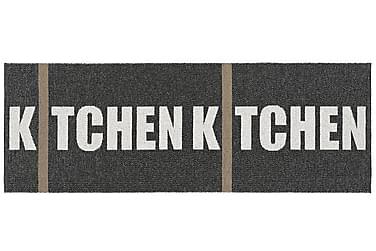 Plastmatte Kitchen 70x250 Vendbar PVC Svart