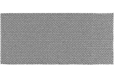 Plastmatte Ola 70x150 Vendbar PVC Svart