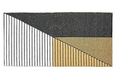 Plastmatte Stripe 70x140 Vendbar PVC Svart/Gul