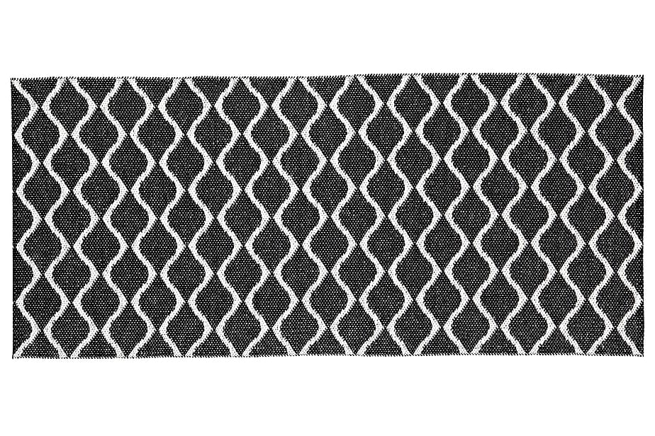 Wave Plastmatte 70x300 Vendbar PVC Svart