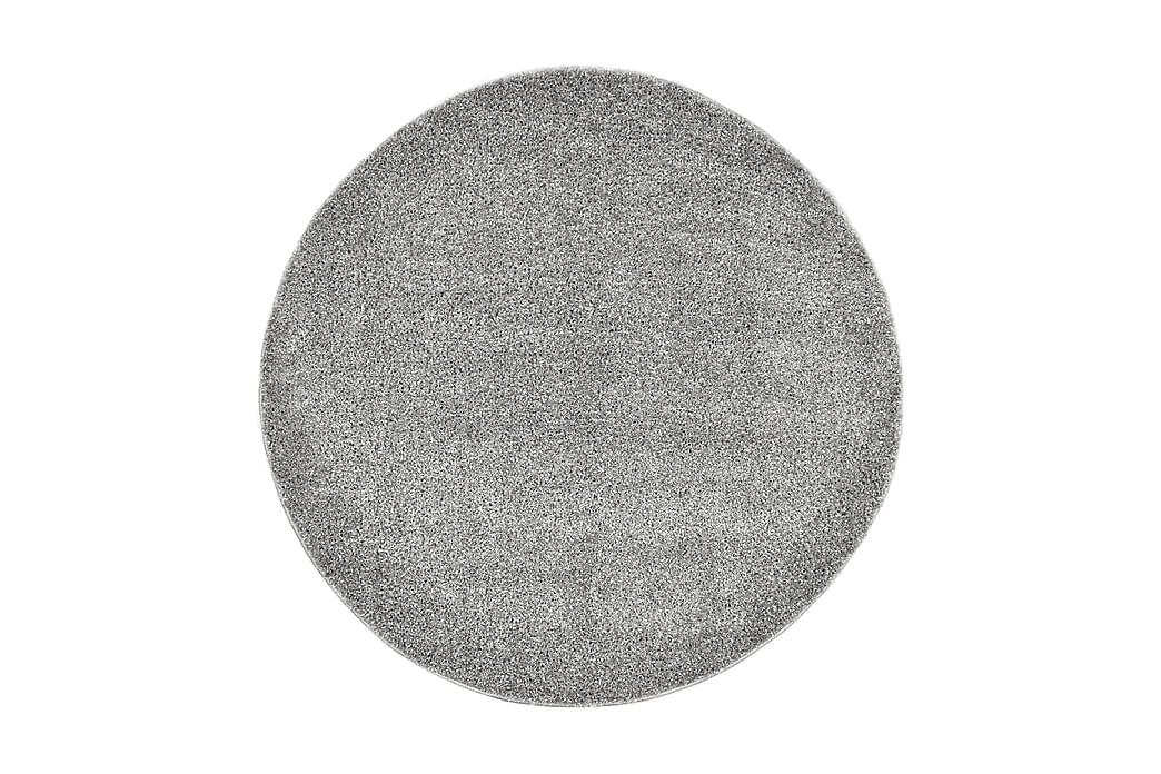 Shaggy flossteppe 67 cm grå - Grå - Innredning - Tepper & Matter - Runde tepper