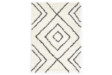 Teppe raggete PP beige og grå 160x230 cm