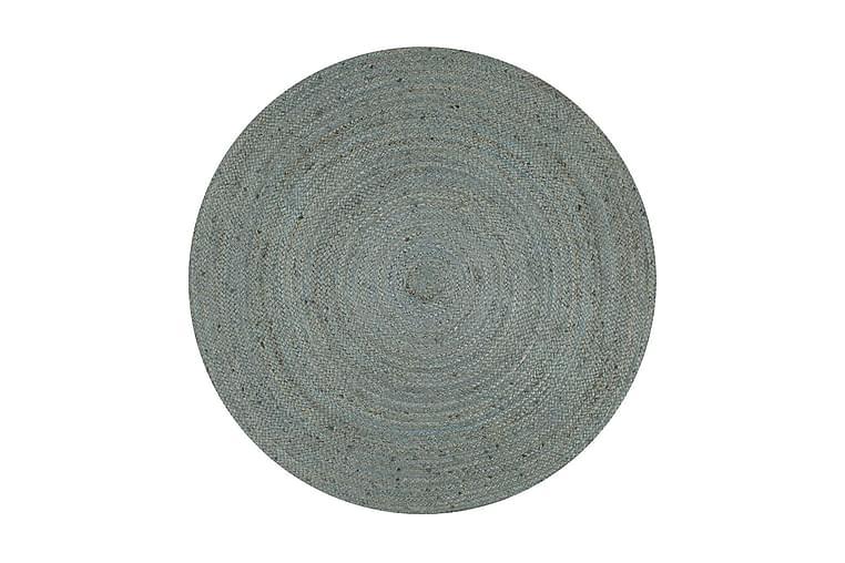 Håndlaget juteteppe rundt 90 cm olivengrønn - Grønn - Innredning - Tepper & Matter - Sisaltepper