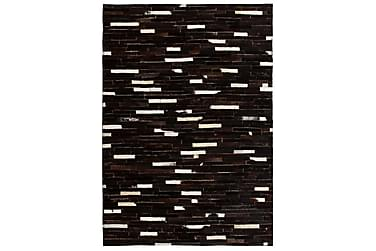 Lumby Lappeteppe 160x230 Striper Lær