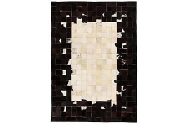 Lumby Lappeteppe 120x170 Firekanter Lær