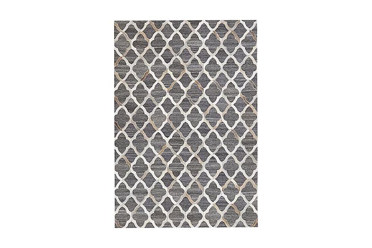 Matte Charbonay 160x230 cm - Grå/Lær - Innredning - Tepper & Matter - Skinn & pelstepper