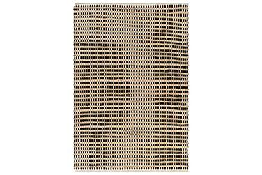 Håndvevd teppe jutestoff 160x230 cm naturell og svart