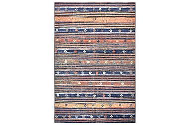 Teppe blå og oransje 140x200 cm PP