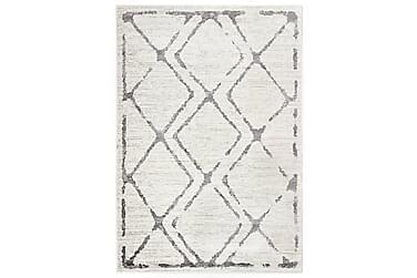 Teppe kremhvit og grå 160x230 cm PP