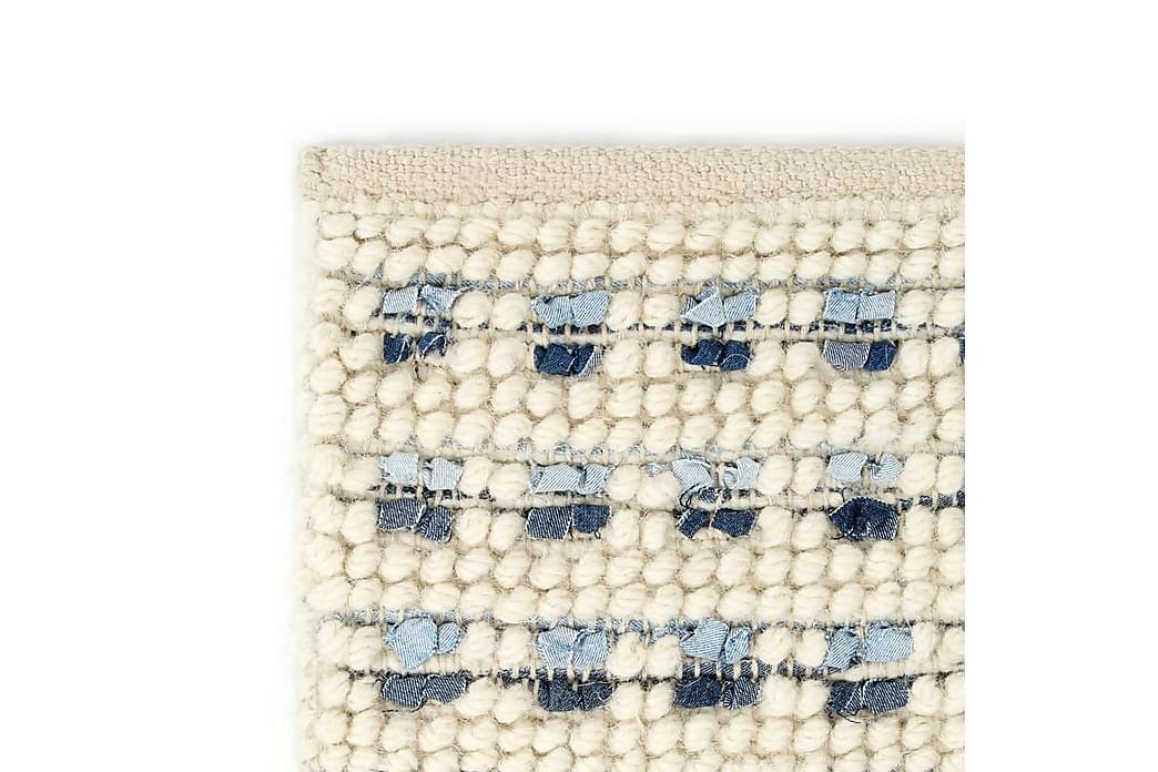 Teppe denim ull 120x170 cm blå/hvit - Hvit - Innredning - Tepper & Matter - Ullteppe