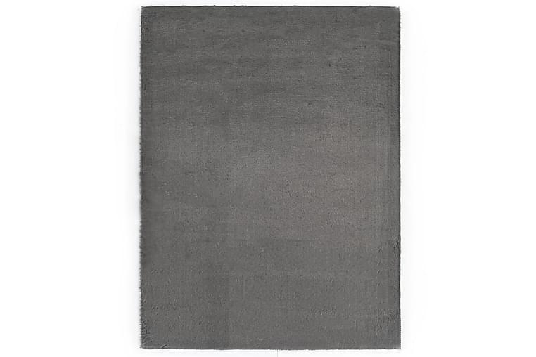Teppe 160x230 cm kunstig kaninskinn mørkegrå - Grå - Innredning - Tepper & Matter
