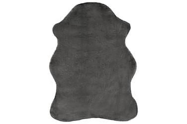 Teppe 65x95 cm kunstig kaninskinn mørkegrå