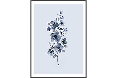 Bilde Floral Blue 50x70 cm