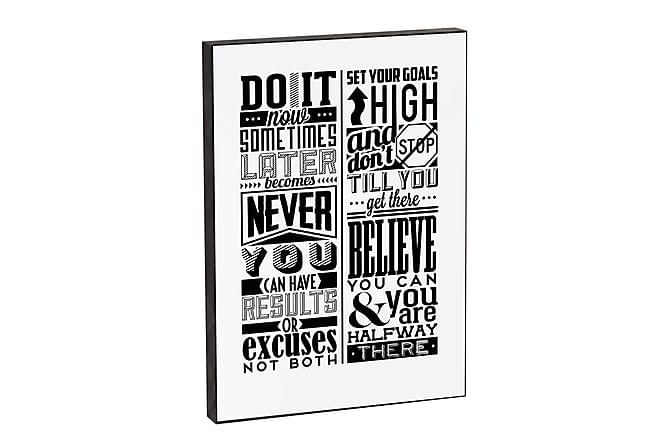 Do it now 3-D Bilde 21x15x2 - Hvit|Svart - Innredning - Veggdekorasjon - Bilder & kunst
