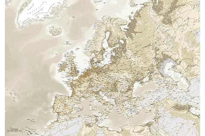 Kanvasbilde Euro Map Vintage 84x120 - Innredning - Veggdekorasjon - Bilder & kunst
