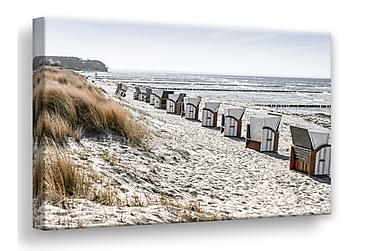 Bilde Beach Huts Lerret