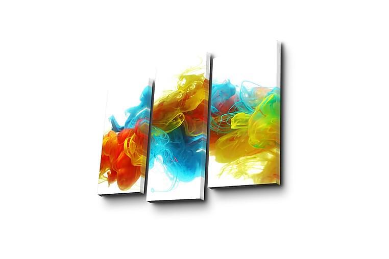 Canvasbilde Dekorativ 3 Deler - Flerfarget - Innredning - Veggdekorasjon - Lerretsbilder