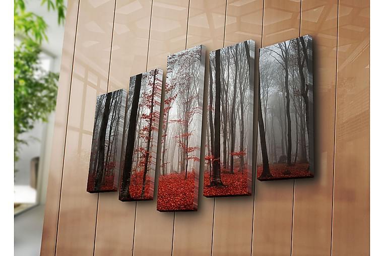 Canvasbilde Dekorativ 5 Deler - Flerfarget - Innredning - Veggdekorasjon - Lerretsbilder