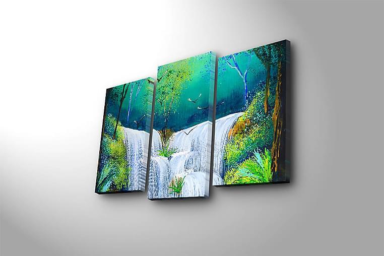 Canvasbilde Scenic 3-pk flerfarget - 22x03 cm - Innredning - Veggdekorasjon - Lerretsbilder