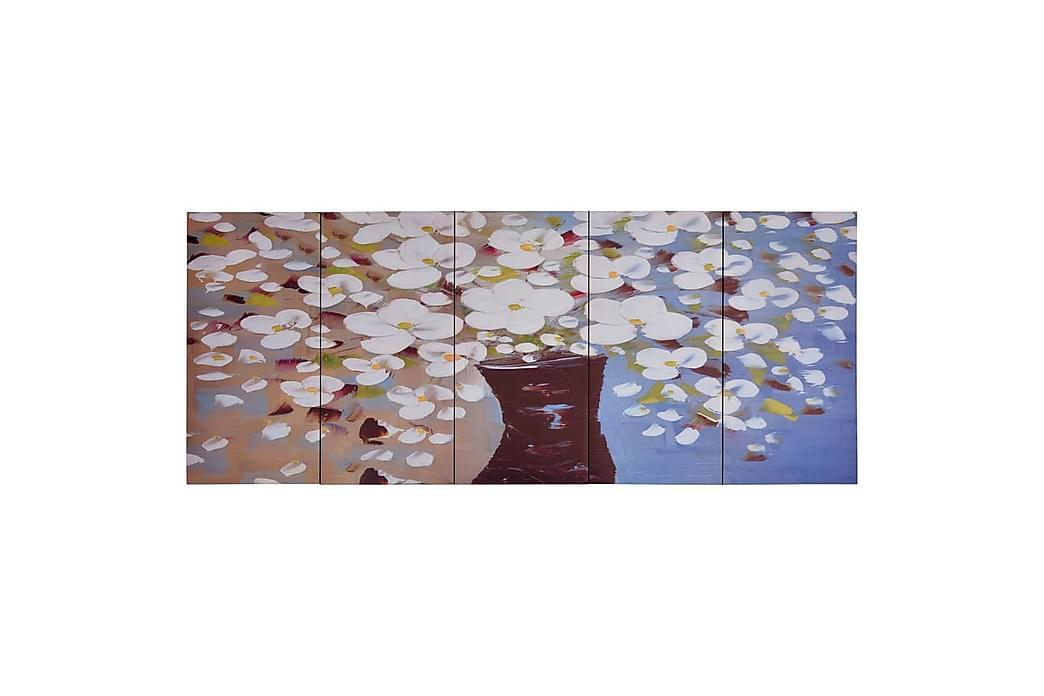 Lerretsbilde blomster i vase flerfarget 150x60 cm - Innredning - Veggdekorasjon - Lerretsbilder