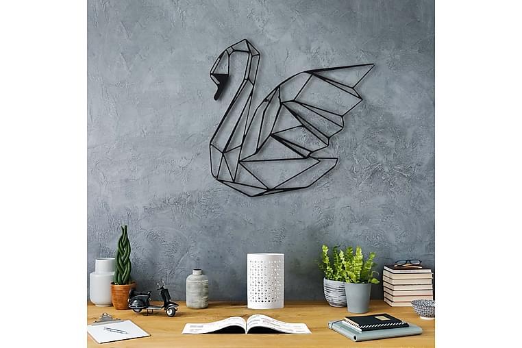 Veggpynt Dekorativ - Svart - Innredning - Veggdekorasjon - Metallskilt