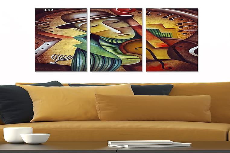 Bilde Music 3-pk Flerfarget - 22x05 cm - Innredning - Veggdekorasjon - Posters