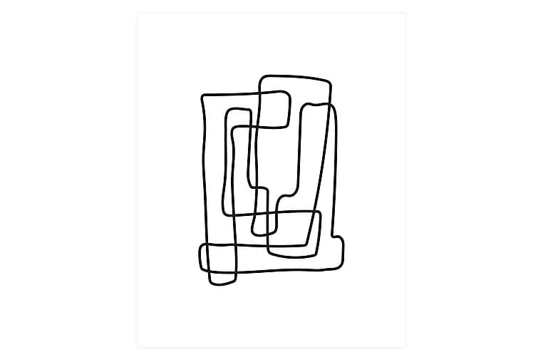 Poster Lines 40x50 cm - Svart/Hvit - Innredning - Veggdekorasjon - Posters