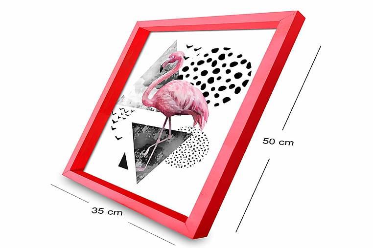 Bilde Animal med Ramme Flerfarget - 33x55 cm - Innredning - Veggdekorasjon - Rammer