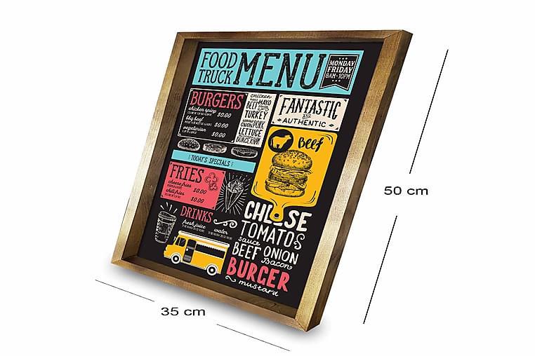Bilde Kitchen med Ramme Flerfarget - 33x55 cm - Innredning - Veggdekorasjon - Rammer
