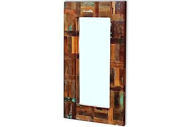 Speil Solid Gjenvunnet Tre 80x50 cm