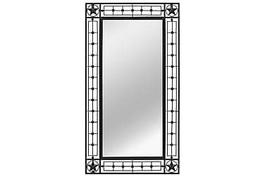 Veggspeil rektangulær 60x110 cm svart