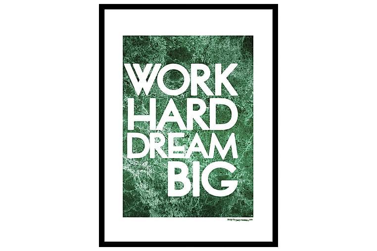 Poster Work hard - Finnes i flere størrelser - Innredning - Veggdekorasjon - Posters