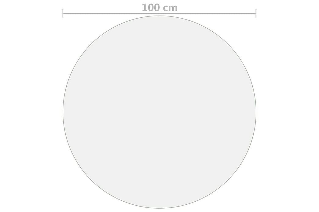 Bordbeskytter gjennomsiktig Ø 100 cm 2 mm PVC - Møbler - Bord - Bordben & tilbehør