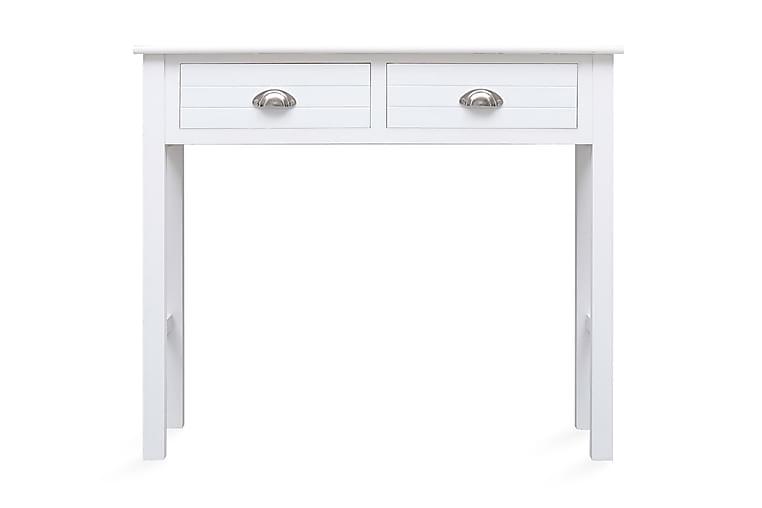 Konsollbord hvit 90x30x77 cm tre - Hvit - Møbler - Bord - Konsollbord & avlastningsbord