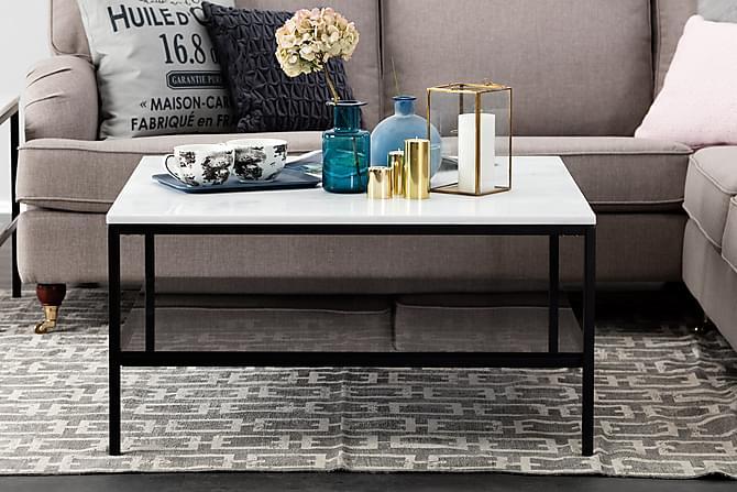 Sofabord Riseine 90 cm - Hvit|Svart - Møbler - Bord - Sofabord