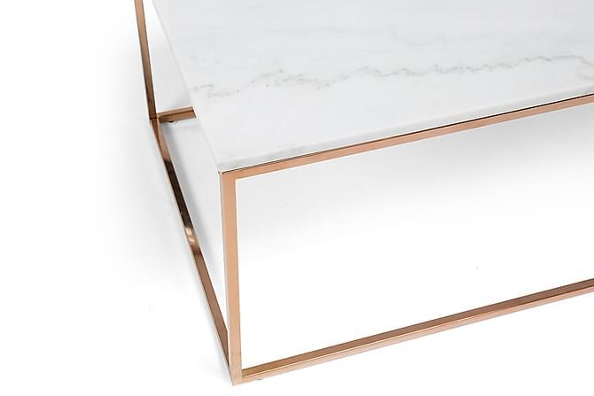 Sofabord Titania 120 cm Marmor - Hvit|Kobber - Møbler - Bord - Sofabord