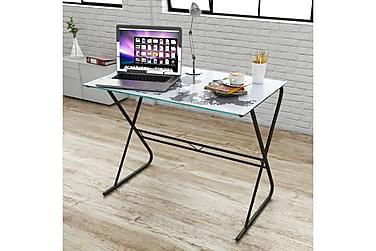 Glass skrivebord med verdenskart design